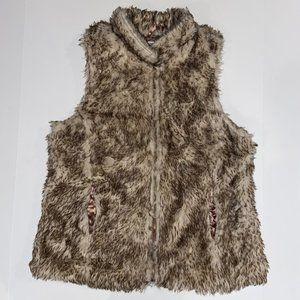 Charlotte Russe Faux Fur Vest: Tan, Women's Large